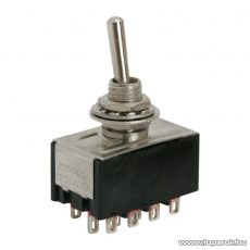 Karos kapcsoló, 4 áramkör, 3A-250V, ON-ON, 2 db / csomag (09055)