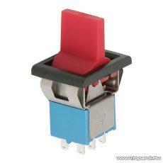 Visszaálló karos kapcsoló, 1 áramkör, 3A-250V, (ON)-OFF-(ON), 5 db / csomag (09061PI)