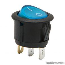 Billenő kapcsoló 1 áramkör 6A-250V ON-OFF kék világítással, 5 db / csomag (09085BL)