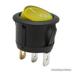 Billenő kapcsoló 1 áramkör 6A-250V ON-OFF sárga világítással, 5 db / csomag (09085YE)