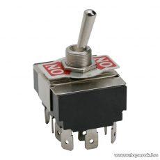 Karos kapcsoló, 4 áramkör, 10A-250V, ON-ON, előlappal, 2 db / csomag (09087)