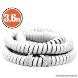 neXus Spirál telefonvezeték, 4P/4C, 3,6 m, fehér, 5 db / csomag (20104)