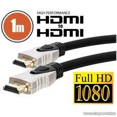neXus Professzionális HDMI kábel, 1 m, aranyozott csatlakozóval, bliszterrel (20345) - megszűnt termék: 2015. március