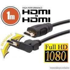 neXus Professzionális HDMI kábel, 1 m, hajlítható csatlakozóval, bliszterrel (20396) - megszűnt termék: 2015. november