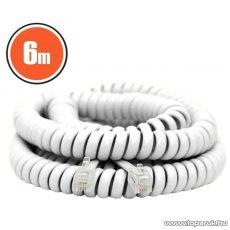 neXus Spirál telefonvezeték, 4P/4C, 6 m, fehér (20105)