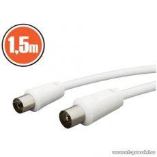 neXus KOAX kábel, dugó - aljzat, 1,5 m, fehér, 1 db (20112)
