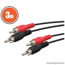 neXus RCA kábel 2 x RCA dugó - 2 x RCA dugó, 3 m, 2 pár / csomag (20127)