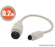 neXus PS/2 - DIN billentyűzet átalakító kábel, PS/2 dugó - DIN aljzat, 0,18 m, 5 db / csomag (20165) - megszűnt termék: 2016. augusztus