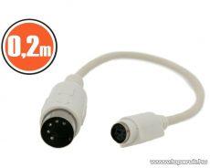 neXus PS/2 - DIN billentyűzet átalakító kábel, DIN dugó - PS/2 aljzat, 0,18 m (20166) - megszűnt termék: 2015. szeptember