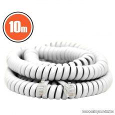 neXus Spirál telefonvezeték, 4P/4C, 10 m, fehér (20180)