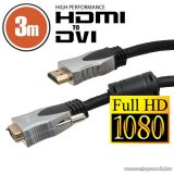 delight Professzionális DVI-D / HDMI kábel, 3 m, aranyozott csatlakozóval, bliszterrel (20385)