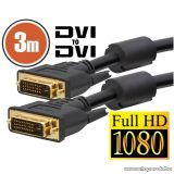 neXus Dual-link DVI kábel, 3 m, aranyozott csatlakozóval (20391)