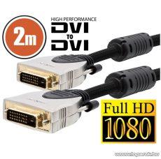 neXus Professzionális Dual-link DVI kábel, 2 m, aranyozott csatlakozóval, bliszterrel (20393)