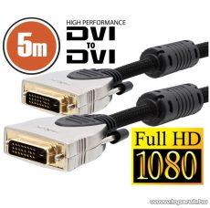neXus Professzionális Dual-link DVI kábel, 5 m, aranyozott csatlakozóval, bliszterrel (20395) - megszűnt termék: 2015. november