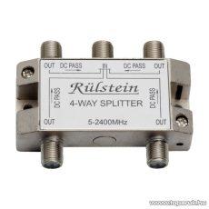 Műholdas F elosztó / splitter, 5-2400 MHz, 1 bemenet, 4 kimenet (05484)