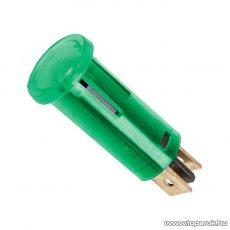 Jelzőfény, 12V, zöld, 10 db / csomag (07921ZO)