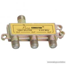 F splitter / F elosztó, 5-900 MHz, 1 bemenet, 3 kimenet, 5 db / csomag (05257)