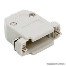 D-SUB műanyag ház, 2 soros csatlakozókhoz, 5 db / csomag (05137)