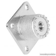 UHF aljzat csatlakozó, beépíthető, aranyozott tüske (05181)