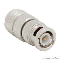 UHF / BNC átalakító csatlakozó, UHF aljzat - BNC dugó, aranyozott tüske (05038)