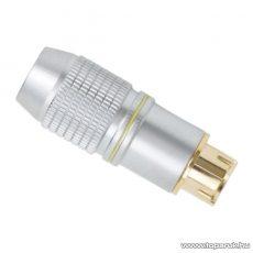 S-VIDEO dugó csatlakozó, 4 pólusú, aranyozott, max. 8mm-es kábelhez (05405)