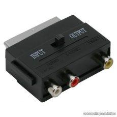 EURO / RCA átalakító, 3 RCA aljzat - EURO-SCART dugó (05161)