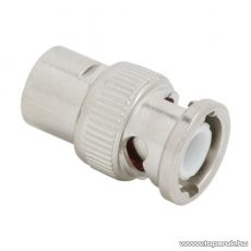 BNC dugó / csatlakozó, RG 59 koax kábel-hez, 75 ohm, szerelhető, aranyozott tüske (05046)