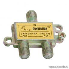 F splitter / F elosztó, 5-900 MHz, 1 bemenet, 2 kimenet, 5 db / csomag (05256)