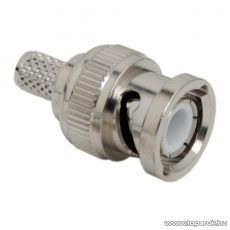 BNC dugó / csatlakozó H 155 koax-hoz, 50 ohm, krimpelős, aranyozott tüske (05083) - készlethiány