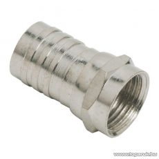F dugó csatlakozó, RG6-os kábelhez, krimpelős, 50 db / csomag (05063)