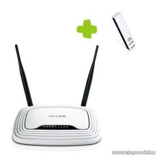 TP-LINK TL-WR300KIT Akciós 300 Mbps Wifi Csomag (WR841N Wireless Router + WN821N USB adapter)