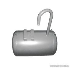 80 literes fekvő hidrofor tartály Elpumps CP tipusok szivattyúkhoz, levegőtöltő szeleppel, kék