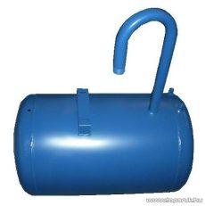 80 literes fekvő hidrofor tartály Elpumps JPV típusok szivattyúkhoz, levegőtöltő szeleppel, kék