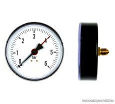 Elpumps tartozék nyomásmérő óra VB 25/1300 típusú szivattyúhoz, vízellátóhoz, műanyag