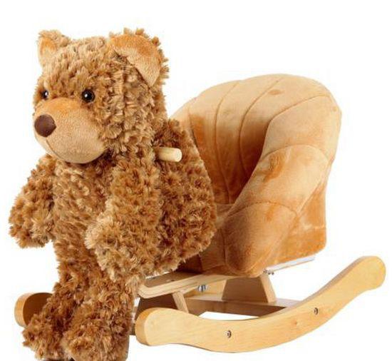 Image of Beleülős, plüss macis, hintás gyermek fotel, mackó design (JR2507)