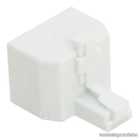 8P8C Y elosztó, 1 dugó – 2 aljzat, fehér, 10 db / csomag (05387)