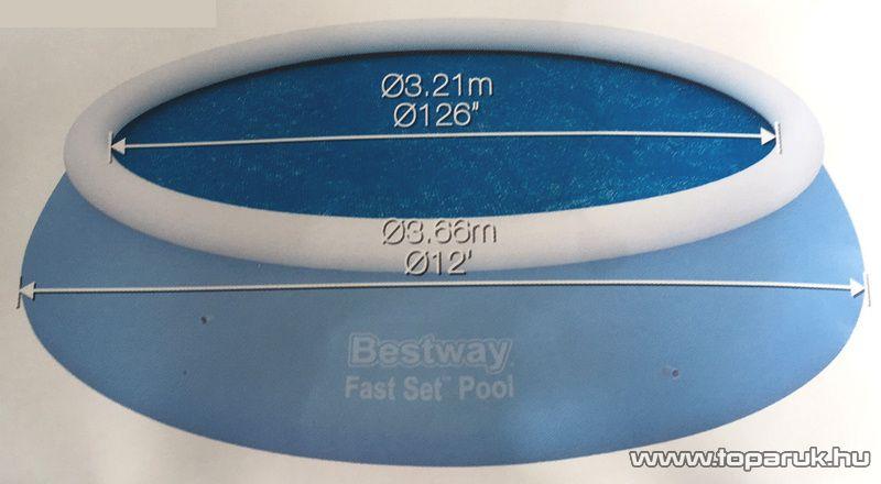 Bestway Medence szolár védőtakaró, takaró fólia, 321 cm átmérőjű (58062) - készlethiány