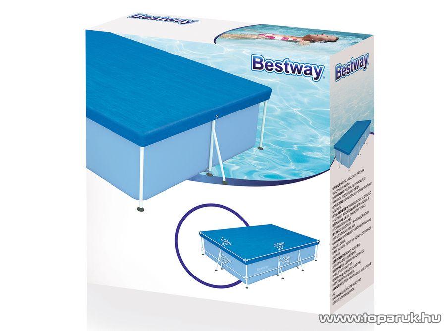 Bestway Amalfi Medence védőtakaró, takaró fólia 300 x 201 cm méretű fémvázas medencéhez - készlethiány