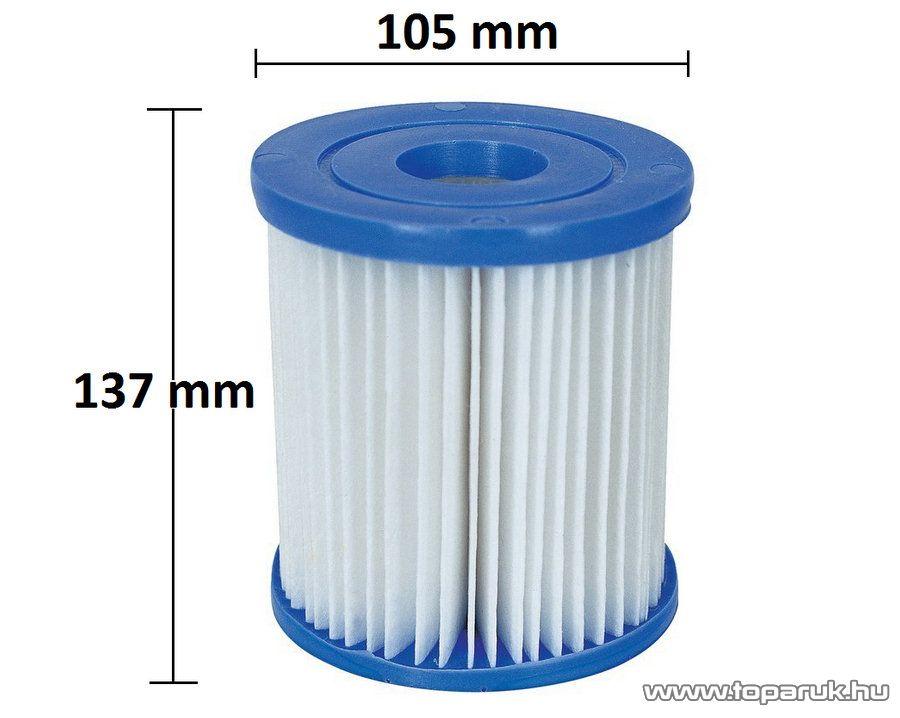 Bestway FFH 019 szűrőbetét II., szűrőpatron 2 m3 /óra vízszűrőkhöz, 2 db / csomag - készlethiány