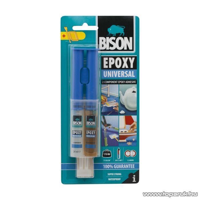 BISON Univerzális kétkomponensű epoxi ragasztó, 24ml (B05437) - készlethiány
