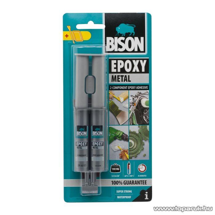 BISON Fémszínű kétkomponensű epoxi ragasztó, 24ml (B05442) - készlethiány
