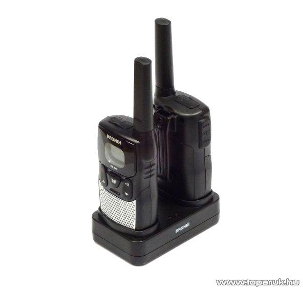 Brondi FX-318 adó-vevő készülék, fekete, 10 km walky talky - megszűnt termék: 2016. február