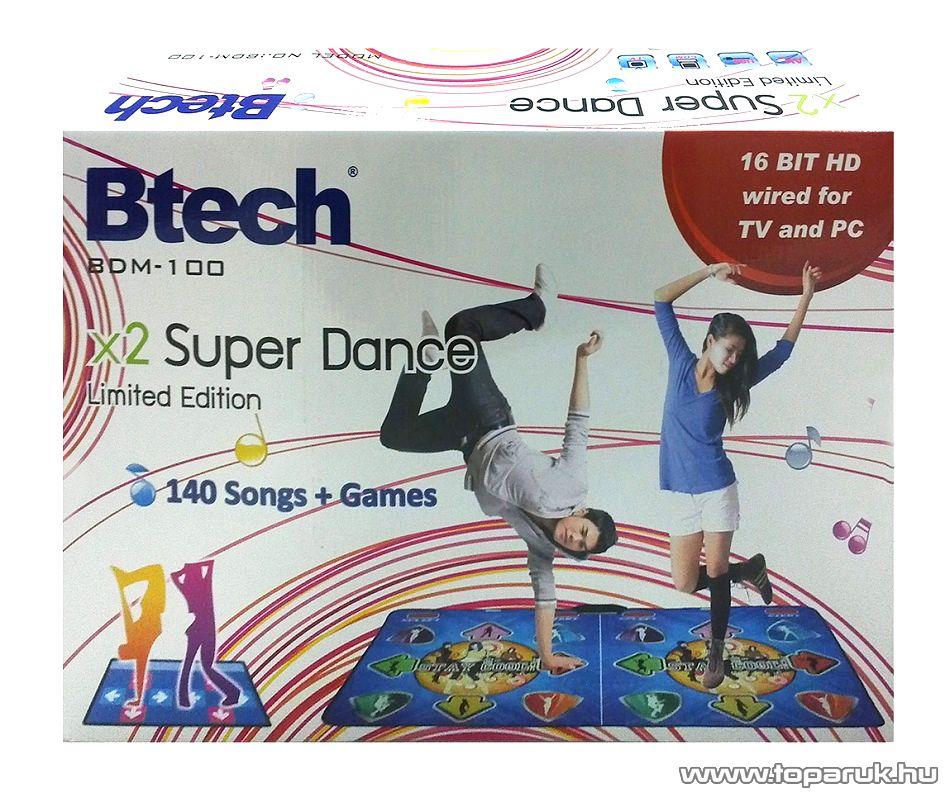Btech BDM-100 dupla táncszőnyeg, 170 x 95 cm