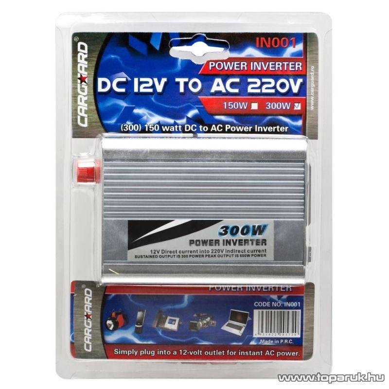 Carguard IN001 Feszültség átalakító inverter DC 12V - AC 220V, 300W (55071) - készlethiány