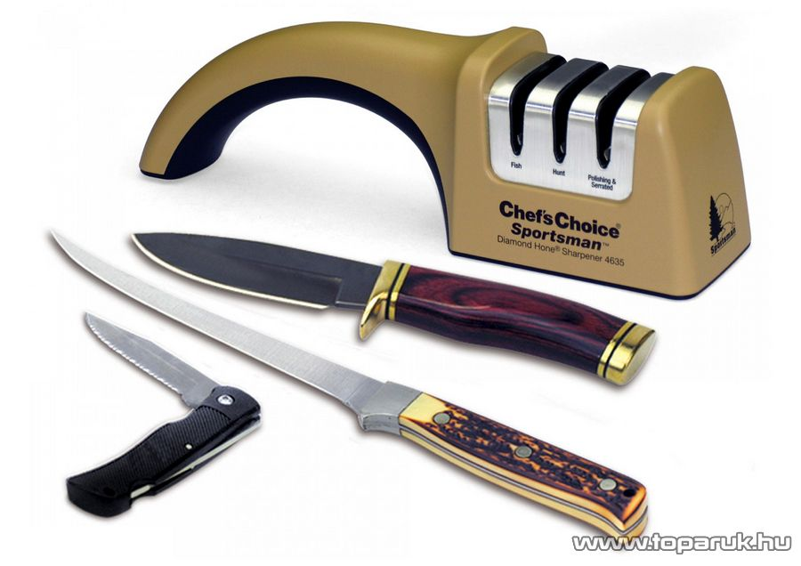 Chef's Choice / EdgeCraft 4635 Gyémántszemcsés manuális vadászkés élező, késélező