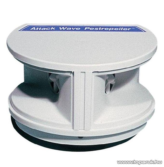 Ultrahangos elektromos egérriasztó, rágcsálóriasztó, kártevőriasztó (hatótávolság 470 m2)