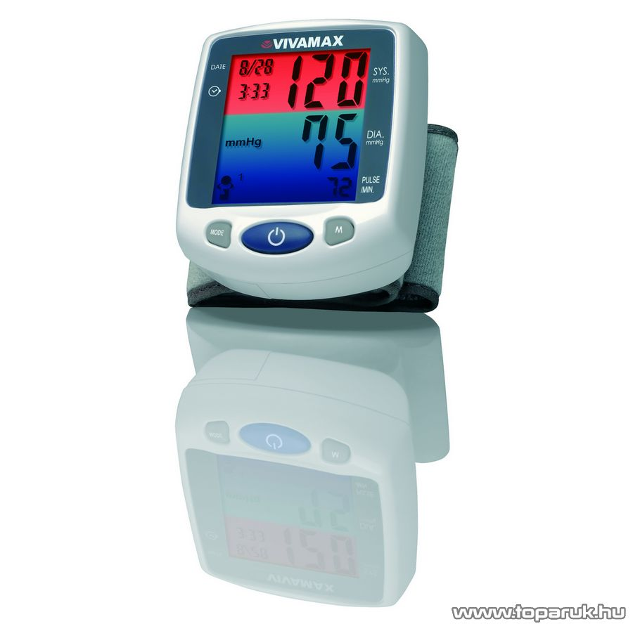 Vivamax GYVHL-168 Színes kijelzős csuklós vérnyomásmérő - Megszűnt termék: 2015. Október