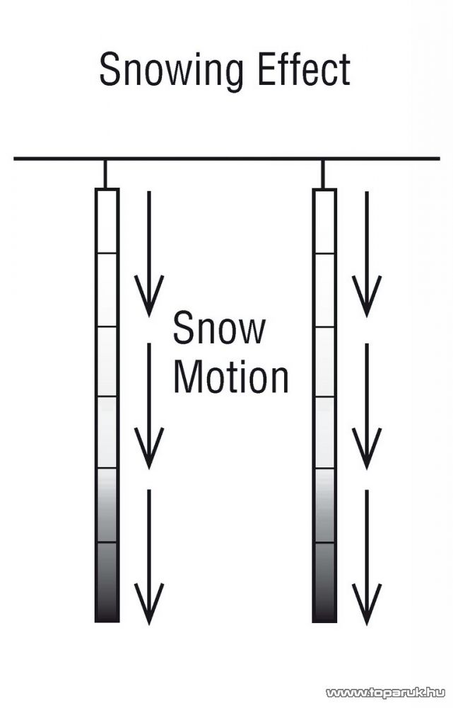 ICE DROP KMN 069 Kültéri toldható SMD LED-es hóesést imitáló világítás, 400 x 12 cm, 5 függő, hidegfehér - készlethiány