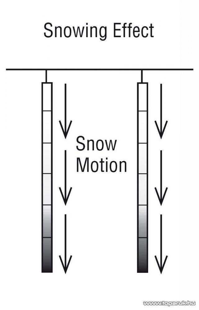 ICE DROP KMN 070 Kültéri toldható SMD LED-es hóesést imitáló világítás, 400 x 20 cm, 5 függő, hidegfehér - készlethiány