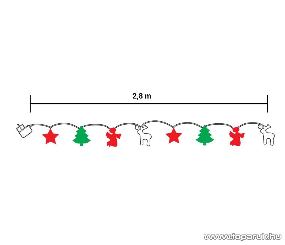 Design Dekor KDE 101 Beltéri LED-es MESESZÉP fényfüzér, 48 db meleg fehér fényű leddel, 1 m hosszú